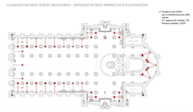 La Nuova Illuminazione Della Facciata E Delle Vetrate Del Duomo 10